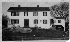 The front of the Koford house (across the street from the barn picture above).  This house, built in 1689 by Doctor Davis has a field stone foundation and when I was a kid, it still had corn cobs as insulation