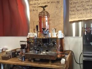 The steam / cowboy punk industrial espresso machine