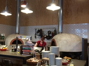 Wood fired ovens at Industrial Eats