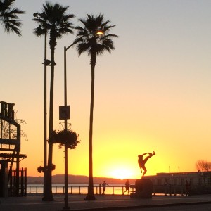 Sunrise on the way to work last week past AT&T park - home of the  San Francisco Giants
