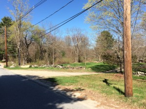 May 2, 2015 picture of the top of the driveway.  Contrasted to the old Koford photo of the same location and angle