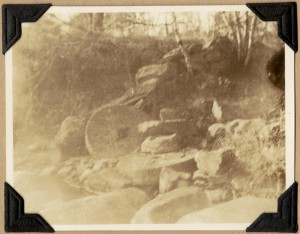 Old mill stones from the Page Mill at Greenough