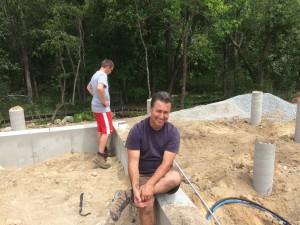 My builder, Paul Hebert and his son Tim