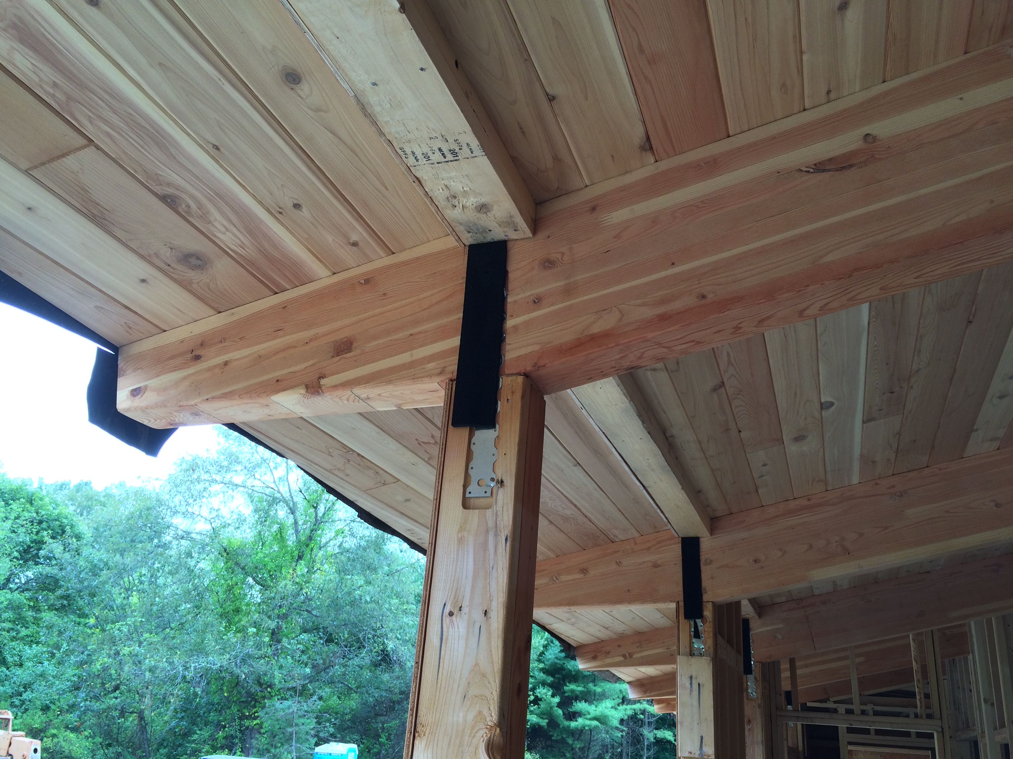 100 Tongue And Groove Roof Sheathing 3 4 In X Ft 8