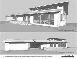 Rendering of my house from Deck after we settled on the main design principles